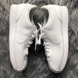 ONLY WORN ONCE NIKE white Cortez